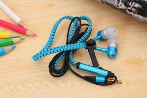 Наушники Zipper с Микрофоном на Молнии Змейка