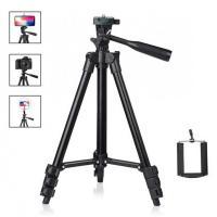 Штатив для фотоаппарата трипод 3120 Black + держатель для мобильного телефона +чехол