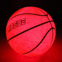 Баскетбольный мяч Jymindge с LED подсветкой стандартного 7-го размера Оранжевый с черным