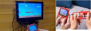 Портативная приставка денди dendy игровая консоль SUP GAME BOX 400 игр в 1