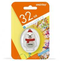 Флеш-драйв Smart Buy USB 32GB Wild series Белый Медведь