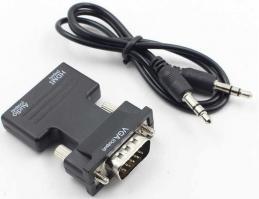 Конвертер с HDMI на VGA OUT(со звуком)