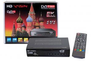 Ресивер (приставка) DVB- T2 HD YASIN 5K , MPEG-2/MPEG-4, HDMI, USB,WI-FI
